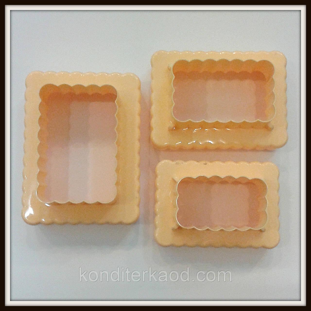 Набор катеров Печенье Жабо 2в1 (3 шт) 6 размеров