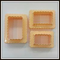 Набор катеров Печенье Жабо 2в1 (3 шт) 6 размеров, фото 1