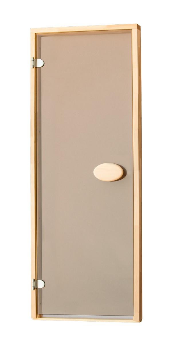 Стеклянные двери для сауны и бани ПАЛ - матовая бронза - 70х190