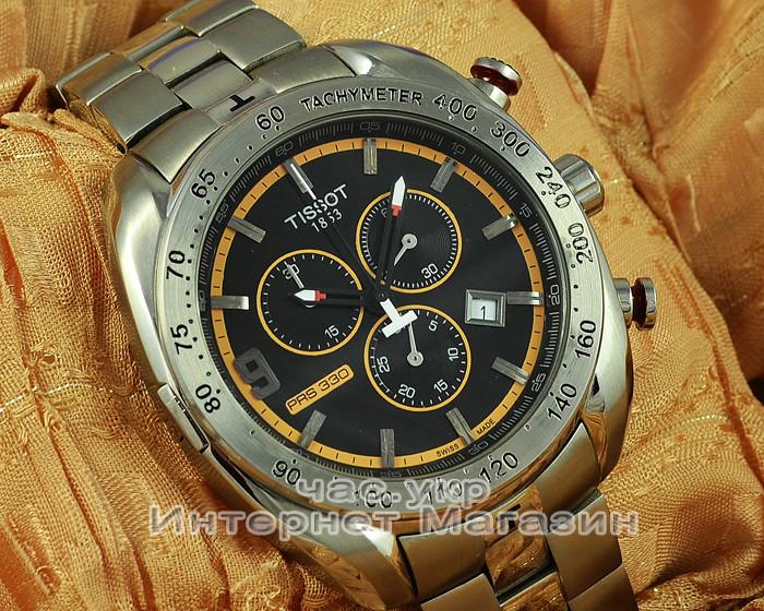 Стильные часы Tissot PRS 330 Tony Parker replica с хронографом и тахиметром качество