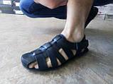 Чёрные летние сандалии кожаные Bertoni, фото 7