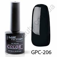 Цветной гель-лак Lady Victory, 7,3 ml GPC-206