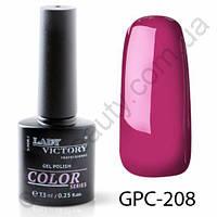 Цветной гель-лак Lady Victory, 7,3 ml GPC-208
