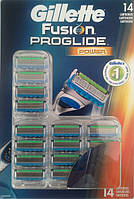 Gillette Fusion ProGlide Power 14 шт. на планшете
