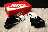 Кроссовки Nike Air Max 270 Flyknit Racer Black/White. Живое фото. Топ реплика, фото 5