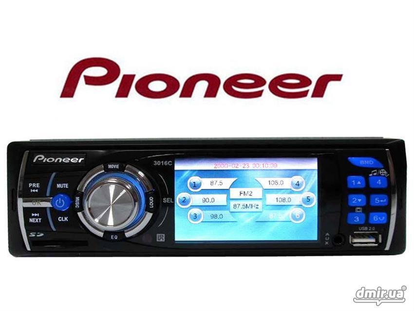 🔥✅ Автомагнитола Pioneer DEH-P3016 USB, с CD, DVD MP3 видео магнитола