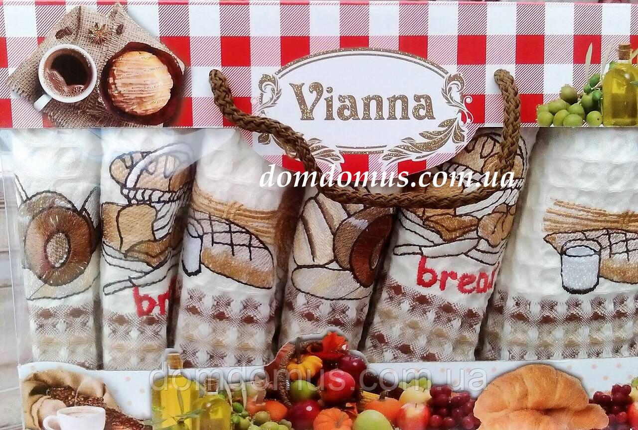 """Набор кухонных вафельных полотенец """"Хлеб"""" 35*50 см Vianna 6 шт.,Турция 522"""