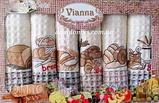 """Набор кухонных вафельных полотенец """"Хлеб"""" 50*70 см Vianna 6 шт.,Турция 523"""