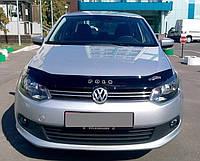 Мухобойка +на капот  VW Polo 5 с 2009 г.в.(с 2010 седан) (Фольксваген Поло) Vip Tuning