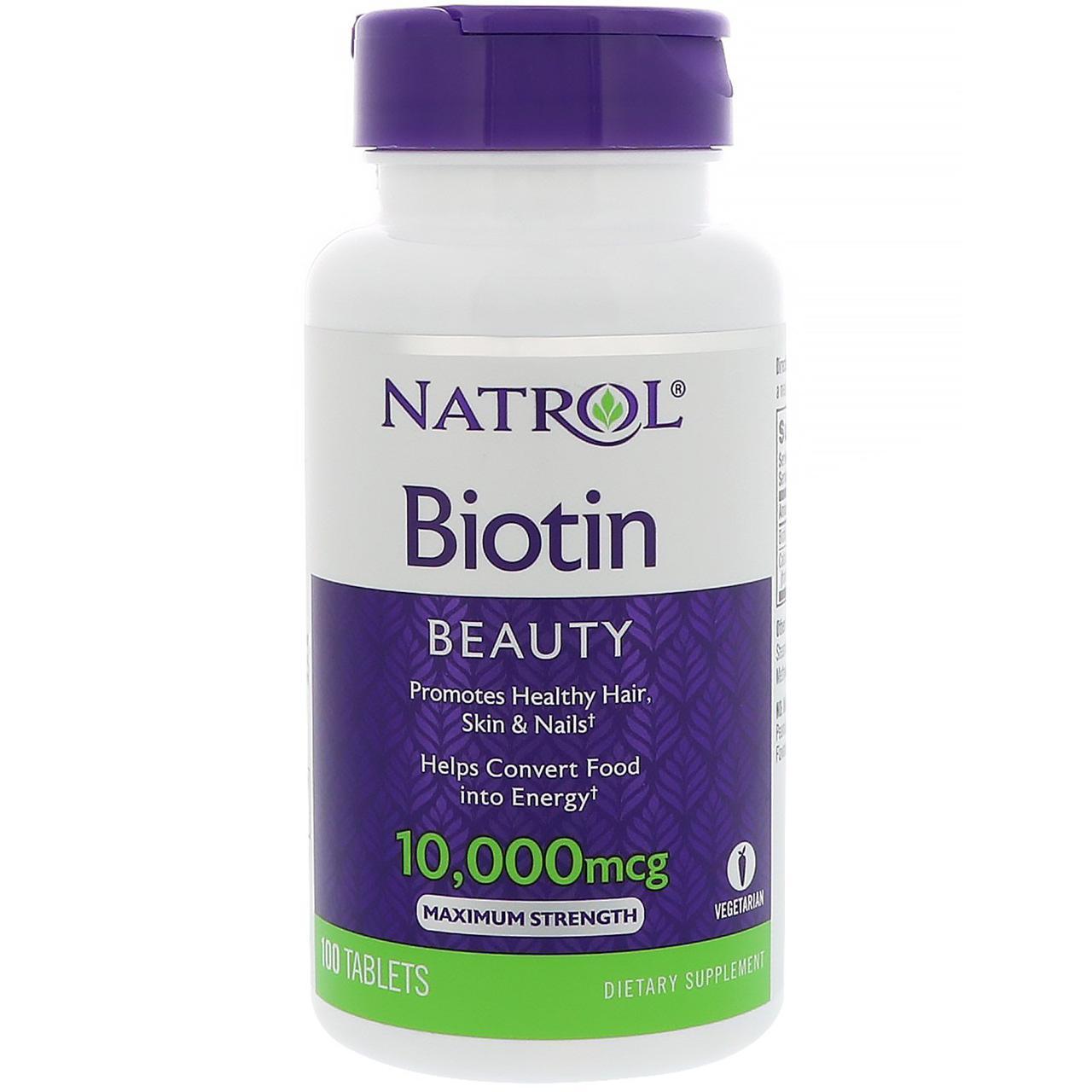 Natrol Biotin 10,000 mcg 100 tabs