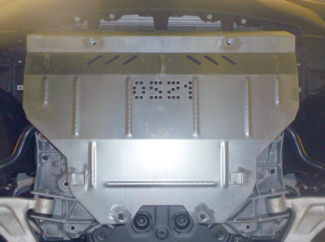 Защита картера двигателя Infiniti QX 70 2013- V-3,7; 3,0D,АКПП/захист двигуна + кпп,двигун, КПП, радіатор