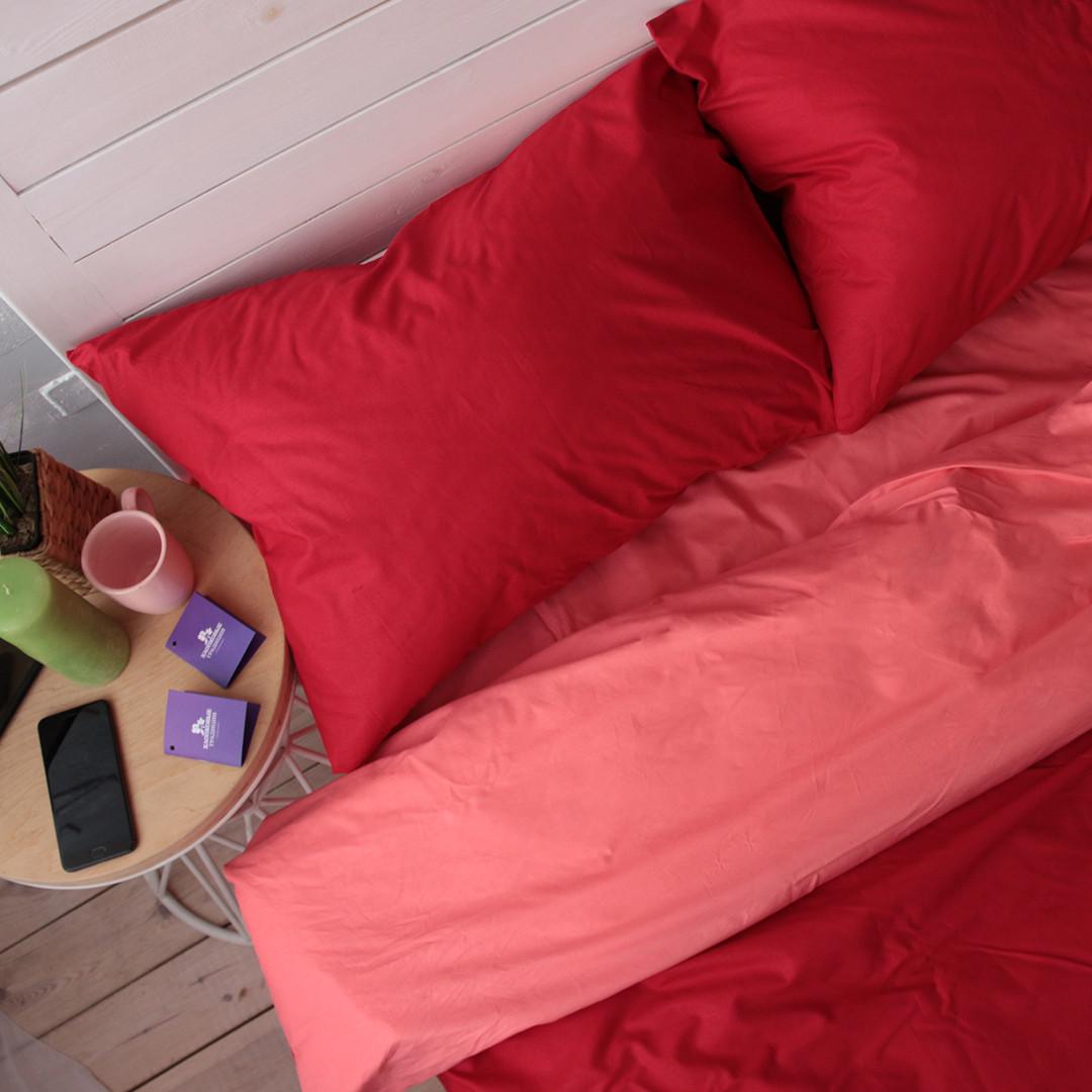 Двуспальный евро комплект постельного белья (поплин). Акция: Бесплатная доставка!