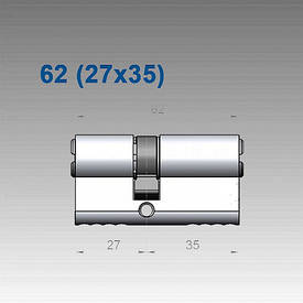 Цилиндр Mul-T-Lock 7х7 62 мм (27х35)