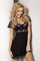 Женская ночная сорочка Paulina TM Dkaren (Польша) Цвет черный