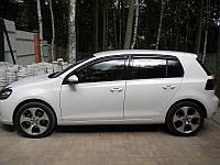 Дефлекторы окон Volkswagen GOLF VI 2009- (Фольксваген Гольф) SIM