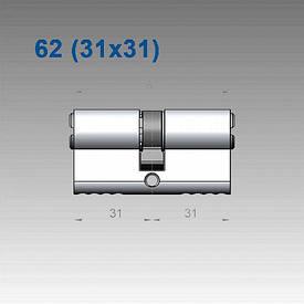 Цилиндр Mul-T-Lock 7х7 62 мм (31х31)