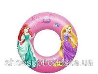Круг надувной Русалочка Рапунцель принцессы Дисней Bestway для плавания 56см