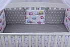 Комплект постельного белья Asik Звёзды на сером и цветные совушки на белом 8 предметов (8-251), фото 3