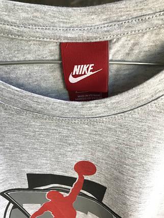 Мужская футболка Jordan.Серая,черная, фото 2
