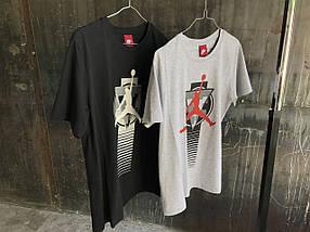 Мужская футболка Jordan.Серая,черная, фото 3