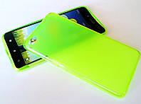 Чехол силиконовый однотонный матовый для Lenovo S90 Sisley кислотный зеленый
