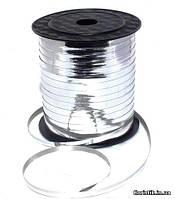 Лента-завязка металл, 0,5 см., 250 ярд., серебро