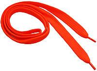 Шнурки широкие 20мм/120см, Ярко-оранжевый, шнурки для одежды оптом в Харькове