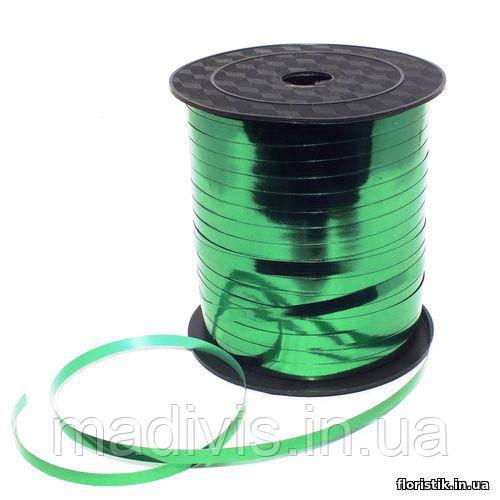 Лента-завязка металл, 0,5 см., 250 ярд., зеленая