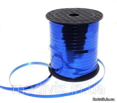 Лента-завязка металл, 0,5 см., 250 ярд.,синяя