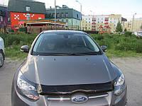 Мухобойка +на капот  FORD FOCUS III 2011- (Форд Фокус) SIM
