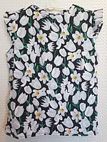 Блузка Ярослава р.122-146 белый+чёрный