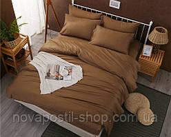 Caramel, комплект постельного белья сатин однотонный