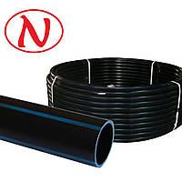 Труба STR ПНД d 75-4,3 мм (6 атм. черная), фото 1