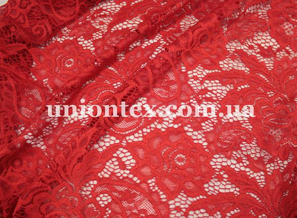 Ткань гипюр плотный стрейч красный  купить в Украине оптом и в ... 36922ecdbbe