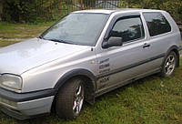 Дефлекторы боковых стекол VW Golf III 3d 1991-1997 (Фольксваген Гольф 3) Cobra Tuning