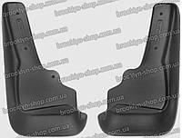 Брызговики Mitsubishi Outlander XL (07-) (Митсубиси Аутлендер ХЛ) (2 шт) передние с порогами (Lada Locker)
