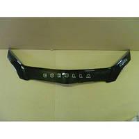Дефлектор капота TOYOTA Corolla E12 H/B с 2002-2007 г.в. (Тойота Корола Е12) Vip Tuning