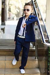 Костюм для мальчика классический тройка, синий,  размеры на рост 116 - 152