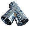 Тройник дымоходный Ø160 45° 1мм из нержавеющей стали, фото 2