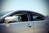Дефлекторы окон (ветровики) Lexus ES 2013- С Хром Молдингом, фото 1