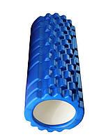 Массажный ролик (валик) для йоги MS 0857, 33*14см, разн. цвета