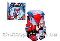 Надувной жилет трехкамерный Spider Man Человек паук Bestway для плавания от 3 до 6 лет