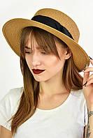 Шляпа канотье Лейте шоколадная