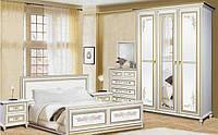 Принцесса Спальня 3Д белый + золото Скай