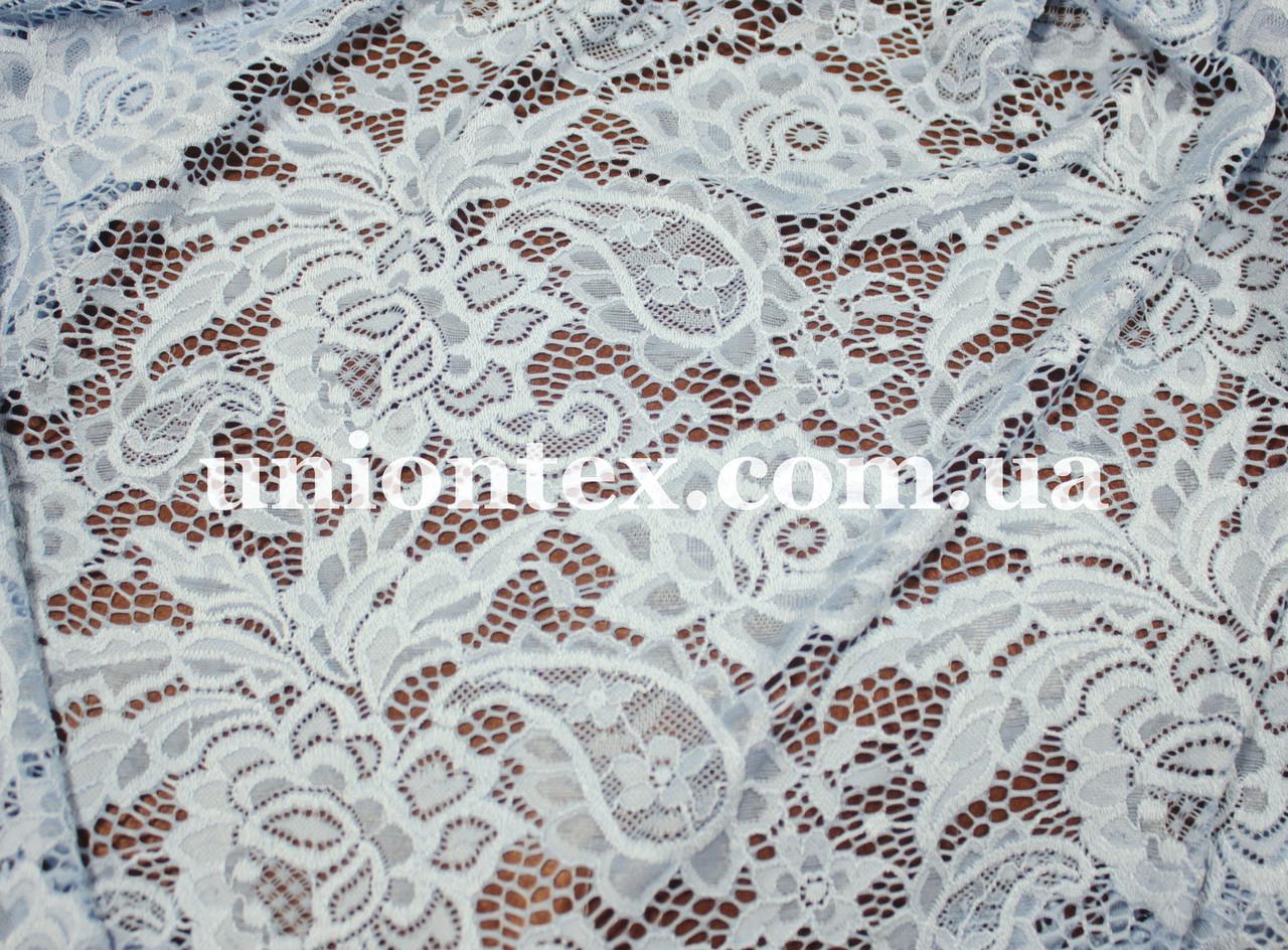 b7da53087b56 Ткань гипюр плотный стрейч голубой - Оптово-розничный магазин тканей и  швейной фурнитуры Юнионтекс.