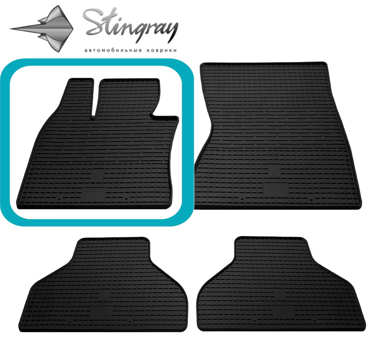 BMW X5 (E70) 2007-2012 Водительский коврик Черный в салон - Stingray® официальный магазин производителя резиновых автоковриков. в Львове