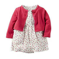 Летний комплект для девочки (платье + кофточка), код (38179) в наличии: 6M,9M,12M,18M,24M