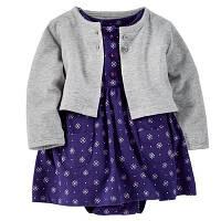 Летний комплект для девочки (платье + кофточка), код (38177) в наличии: 6M,9M,12M,18M,24M