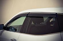Дефлекторы окон (ветровики) Hyundai Santa Fe 2012 - Хром Молдингом