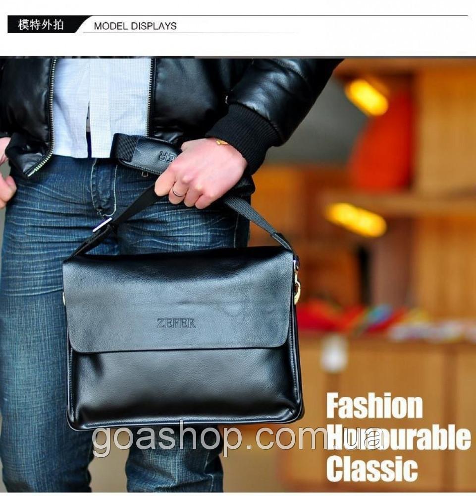 e24667ef30ab Кожаная мужская сумка портфель ЗЕФЕР А4. Сумки для мужчин. Модные сумки.  Офисные сумки